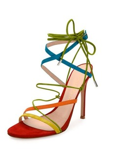 Gianvito Rossi Strappy Suede 105mm Sandal