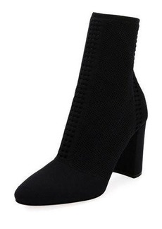 Gianvito Rossi Stretch-Knit Mid-Calf Bootie