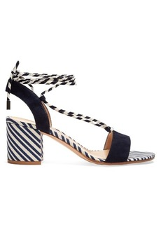 Gianvito Rossi Striped block-heel sandals