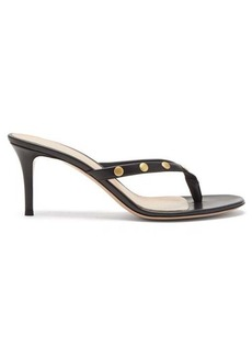 Gianvito Rossi Studded 70 leather sandals