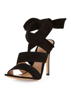 Gianvito Rossi Suede Ankle-Tie 105mm Sandal