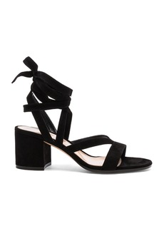 Gianvito Rossi Suede Janis Low Sandals