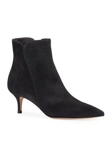 Gianvito Rossi Suede Pointed-Toe Booties