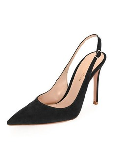 Gianvito Rossi Suede Slingback 105mm Pump