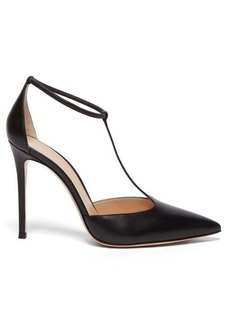 Gianvito Rossi T-bar 105 leather pumps