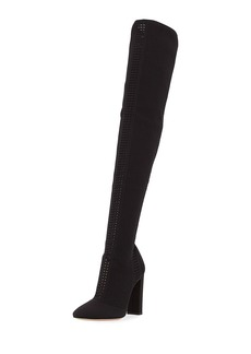 Gianvito Rossi Thurlow Cuissard Knit Over-The-Knee 105mm Boot