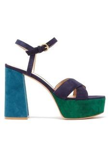 Gianvito Rossi Tri-colour 70 suede platform sandals