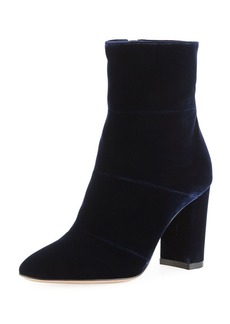 Gianvito Rossi Velvet Block-Heel 85mm Boot