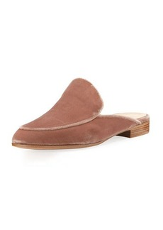 Gianvito Rossi Velvet Flat Loafer Mule
