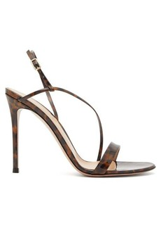 Gianvito Rossi Venice 85 leopard-print patent-leather sandals