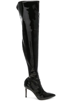 Gianvito Rossi Vinyl Gillian Thigh High Boots