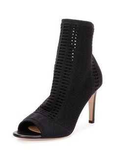 Gianvito Rossi Vires Knit Open-Toe 85mm Bootie
