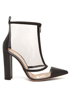 Gianvito Rossi Watson 105 plexi-panelled leather boots