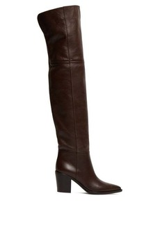 Gianvito Rossi Western 85 leather over-the-knee boots