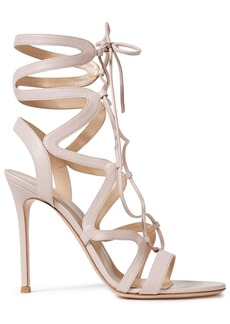 Gianvito Rossi Woman Artemis 105 Lace-up Leather Sandals Pastel Pink