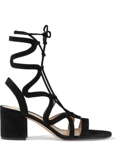 Gianvito Rossi Woman Artemis 60 Lace-up Suede Sandals Black