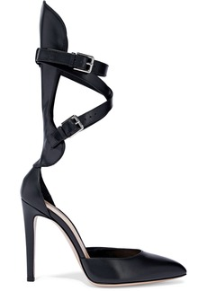 Gianvito Rossi Woman Buckled Leather Pumps Black