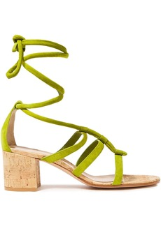 Gianvito Rossi Woman Cayman 60 Suede Sandals Lime Green