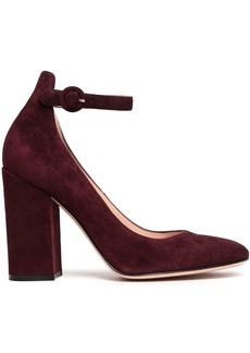 Gianvito Rossi Woman Greta Suede Mary Jane Pumps Grape