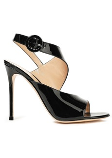 Gianvito Rossi Woman Helica 105 Patent-leather Sandals Black