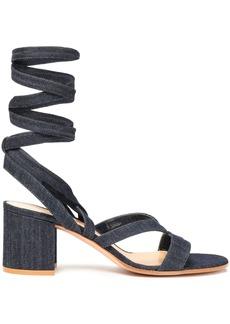 Gianvito Rossi Woman Janis Denim Sandals Dark Denim