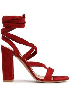Gianvito Rossi Woman Janis Suede Sandals Crimson