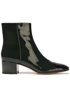 Gianvito Rossi Woman Langley 45 Patent-leather Ankle Boots Dark Green