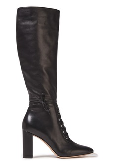 Gianvito Rossi Woman Melissa 85 Lace-up Leather Knee Boots Black