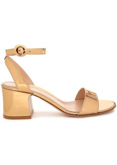 Gianvito Rossi Woman Mirrored-leather Sandals Gold