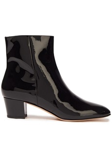 Gianvito Rossi Woman Patent-leather Ankle Boots Black