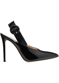 Gianvito Rossi Woman Patent-leather Slingback Pumps Black