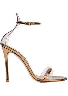 Gianvito Rossi Woman Portofino 100 Pvc-trimmed Metallic Leather Sandals Gold