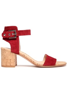 Gianvito Rossi Woman Rikki Suede And Cork Sandals Red