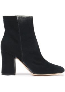 Gianvito Rossi Woman Shelly 85 Velvet Ankle Boots Dark Gray