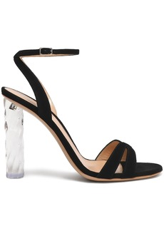 Gianvito Rossi Woman Shyla Suede And Perspex Sandals Black