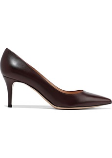 Gianvito Rossi Woman Simple 70 Leather Pumps Grape