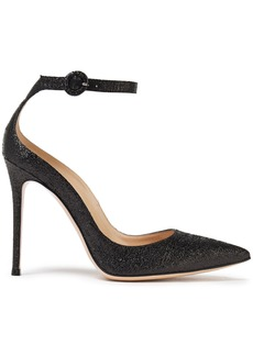 Gianvito Rossi Woman Sofia 105 Tinsel Pumps Black