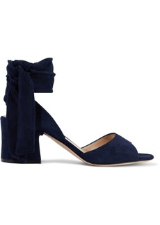 Gianvito Rossi Woman Suede Sandals Navy