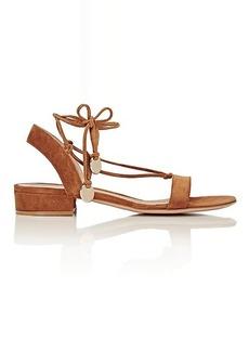 Gianvito Rossi Women's Cherry Ankle-Tie Suede Sandals