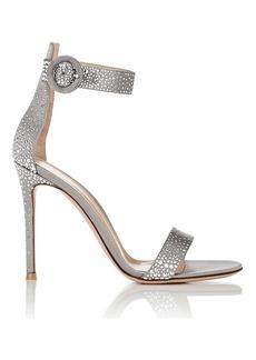 Gianvito Rossi Women's Iridium Studded Satin Sandals