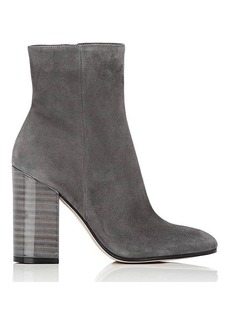 Gianvito Rossi Women's Lacquered-Heel Ankle Boots