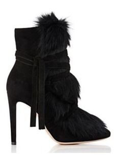 Gianvito Rossi Women's Moritz Suede & Fur Ankle Boots