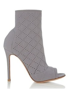 Gianvito Rossi Women's Perforated Knit Ankle Booties
