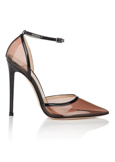 Gianvito Rossi Women's Sabin PVC & Patent Leather Ankle-Strap Pumps