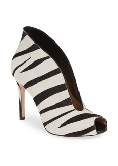 Gianvito Rossi Zebra Stripe Genuine Calf Hair Peep Toe Bootie (Women) (Nordstrom Exclusive)