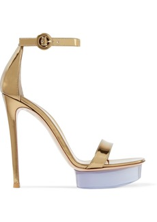 Gianvito Rossi Godiva 135 Metallic Leather And Perspex Platform Sandals