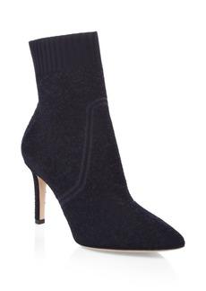 Gianvito Rossi Granata Glitter Leather Sock Boots