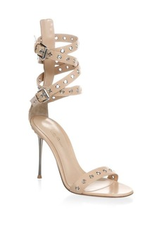Gianvito Rossi Ankle-Strap Grommet Leather Sandal