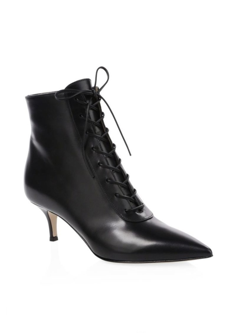 1e4a7bb02f Gianvito Rossi Leather Lace-Up Kitten Heel Booties Now $622.50