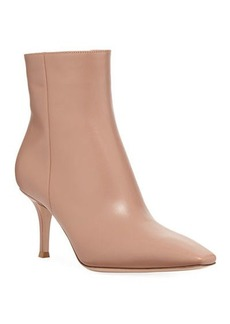 Gianvito Rossi Leather Mid-Heel Booties